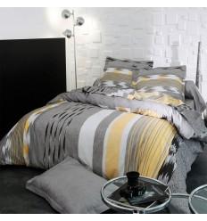 linge de lit imprimé coton