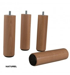 Pieds de sommier bois cylindrique