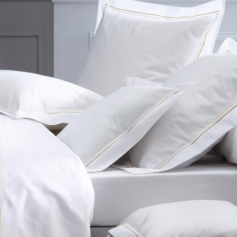 linge de lit blanc percale op ra. Black Bedroom Furniture Sets. Home Design Ideas