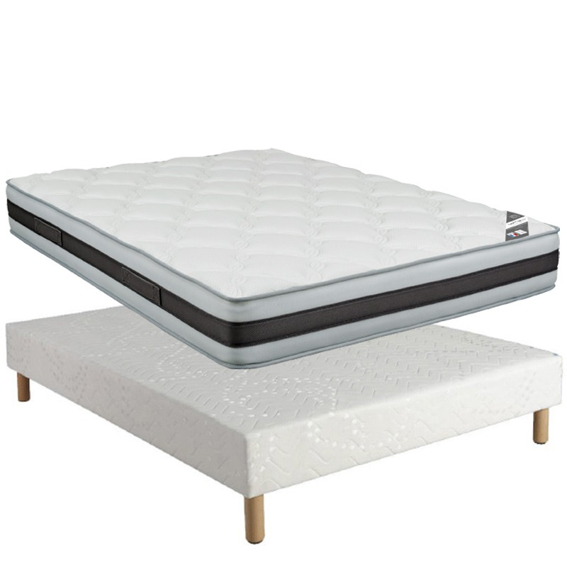 ensemble matelas mythos spring sommier calvi 15 et pieds. Black Bedroom Furniture Sets. Home Design Ideas
