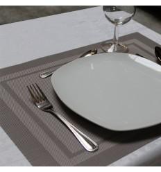 LOT DE 6 SETS DE TABLE LENNON COULEURS