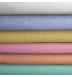 Linge de Lit blanc et pastels Poly Coton